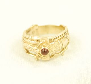 JAMES AVERY Martin Luther Wedding Band 14k Gold and Garnet Ring