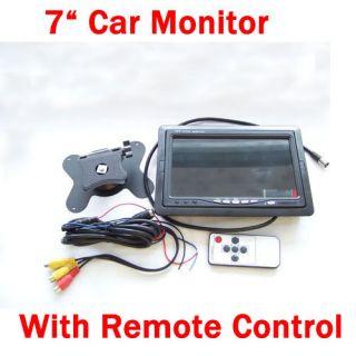 DVD VCR Backup camera 7 TFT LCD Color Car Rear view TV Monitor