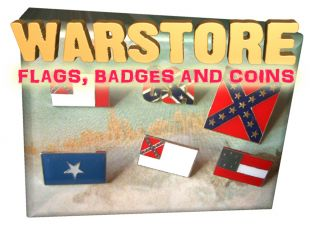 2nd Confederate Flag Metal Pin Badge American Civil War Robert E Lee