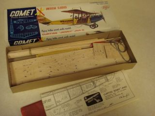 Comet Curtiss Jenny JN4 D Balsa Wood Scale Model Airplane Kit