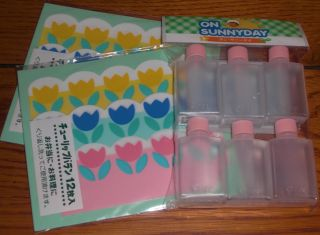 FLOWER Baran Food Divider & Mini Soy Sauce Bottle for Japanese Bento