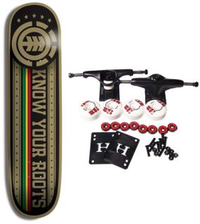 Element Skateboards Complete Skateboard Roots Rasta 7 75