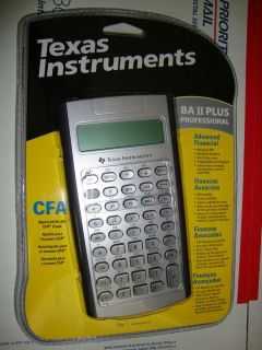 NEW TI BA II Plus Pro Professional Financial Calculator TIBAII IIBAPRO