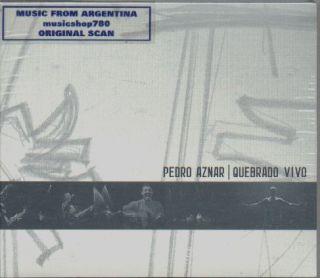 Pedro Aznar Quebrado Vivo SEALED 2 CD Set New 2009 Live
