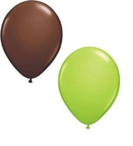 lime green chocolate birthday baby shower balloons