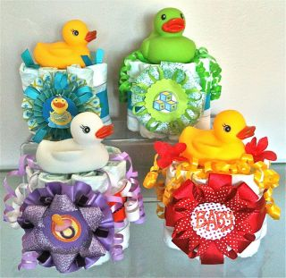Mini Baby Shower Favors Gifs Boy Girl Colored Duck Bah oys