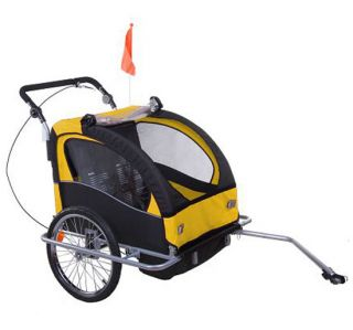 Aosom 2in1 Double Kids Baby Bike Bicycle Trailer Stroller Jogger