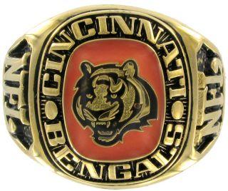 Balfour Ring Football NFL Team Cincinnati Bengals Sz 7 5