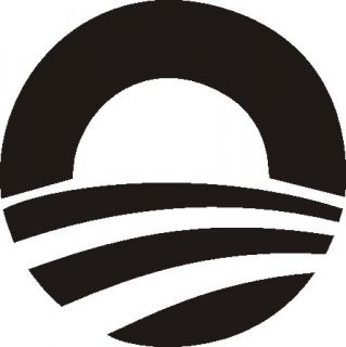 Barack Obama Logo Vinyl Decal Sticker Black 5 4B