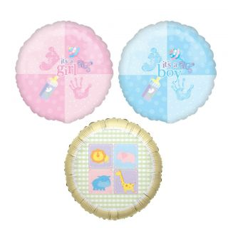 Set of 10 Baby Shower Balloons 18 You Choose Color Blue Pink Neutral