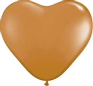 Mocha Brown 06 Heart Latex Balloons Wedding Baby Shower Birthday Prom