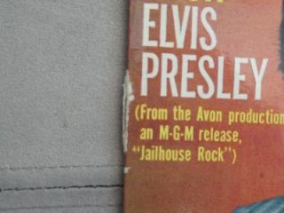 Elvis Presley Jailhouse Rock Original 7 Vinyl Record EP
