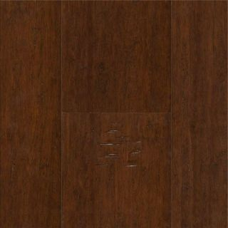 Wire Brushed Coffee Bamboo Hardwood Flooring Wood Floor