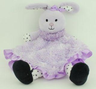 Baby Starters Purple Minky Swirl Bunny Rabbit Security Blanket Lovey