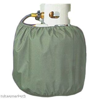 Coleman 20 lb Propane Tank Fabric Cover Grill Mosquito