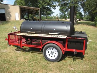 BBQ SMOKER TRAILER pit rig EAST TEXAS SMOKER COMPANY tailgater