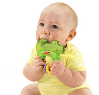 New Fisher Price Luv U Zoo Baby Alligator Teether Toys