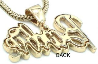 Gold Tone New Barbie Pendant Nicki Minaj Necklace