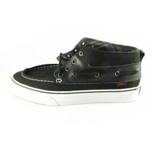 New Vans Shoes Chukka Del Barco Boot 8 5 M 10 w C L Black Mid White