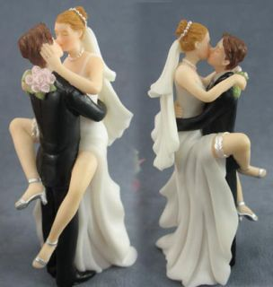 Wedding Cake Toppers Kissing Bride and Groom Sexy Funny