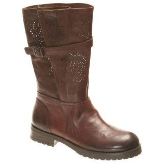 BACIO61 Prolisso in Deep Earth Brown Leather Womens Boots Various