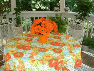 New Bardwil Linens Sunny Days Indoor Outdoor Fabric Tablecloth 52 x 70