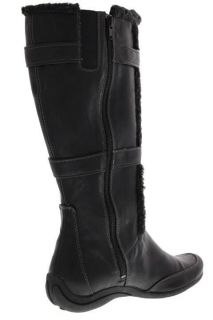 Hush Puppies New Barbaresco Black Faux Fur Trim Knee High Boots Shoes