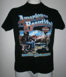 Davidson Shirt 3D Emblem USA Barger California Hog Biker Sz S