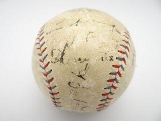 Lou Gehrig 1930 NY Yankee Signed Barnard Ball 6 H O F Sothebys