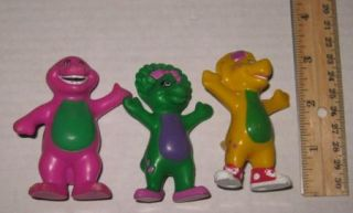 Barney Baby Bop BJ 3 Figure PVC Cake Toppers Gift Cute VHTF