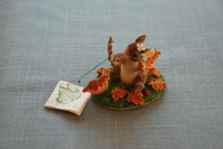Charming Tails Maxines Leaf Collectors Ltd. Edition NEW in Box