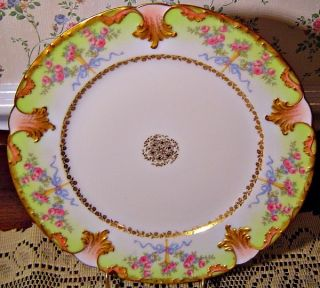 BEAUTIFUL ANTIQUE HAND PAINTED GOA LIMOGES FRANCE CA. 1910 PLATE LOTS