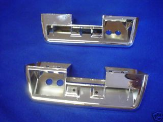 1964 1965 1966 Plymouth Barracuda Chrome Arm Rest Bases