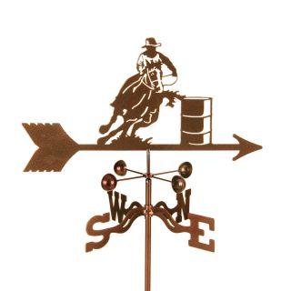 barrel racer horse weathervane