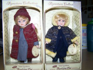 Porcelain Dolls Signature Collection by Barbara Lee with Boxes