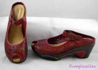 Croft Barrow Womens Mary Jane Mules Clogs Shoes 7 5 M Red