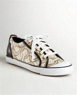 Coach Barrett Op Art Swirl Womens Fashion Sneakers Athletic Shoe Sz 6