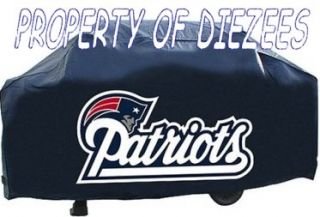 New England Patriots NFL BBQ Gas Grill Cover with Logo