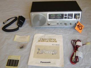 Panasonic rj 3600 CB receiver tranmitter radio base station 40 channel