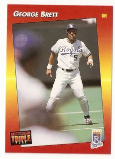 1992 George Brett Donruss Triple Play Baseball Trading Card 115