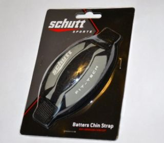 New Schutt Sports Black Gray Baseball Fit Tech Batters Chin Strap