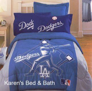 La Dodgers MLB Baseball Boys Girls Sports Bedding Comforter Sheet Wall