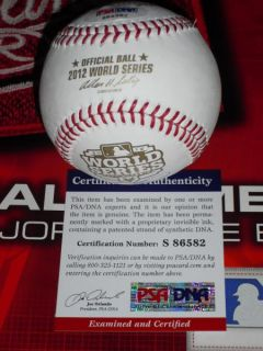 LAIRD SIGNED 2012 WORLD SERIES BASEBALL, DETROIT TIGERS, PSA/DNA, MLB