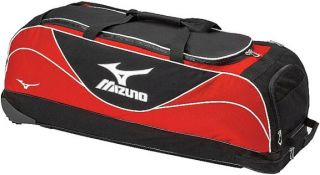 Mizuno Vintage Baseball Softball Wheeled Equipment Bag Royal/Black