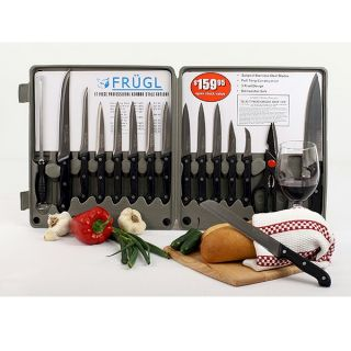 17 Piece Professional German Type Cutlery Kitchen Cookware Knife Set