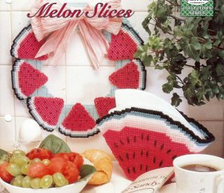 Watermelon Wreath Basket Pattern Plastic Canvas Pattern Only