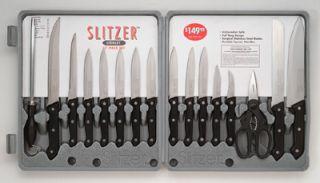 17 Piece Professional German Type Cutlery Kitchen Cookware Knife Set