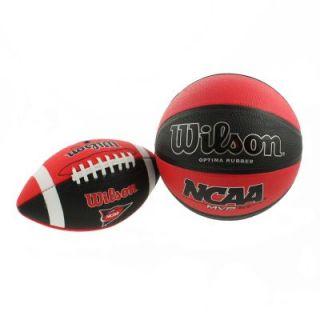 NCAA Bundle Pack Peewee Football Official Size Basketball Kids Sports