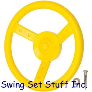 Economy Steering Wheel Playground Swing Set Toy Children Fort Fun Park