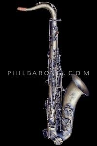 BRAND NEW PHIL BARONE ANTIQUE BRONZE VINTAGE TENOR SAXOPHONE!